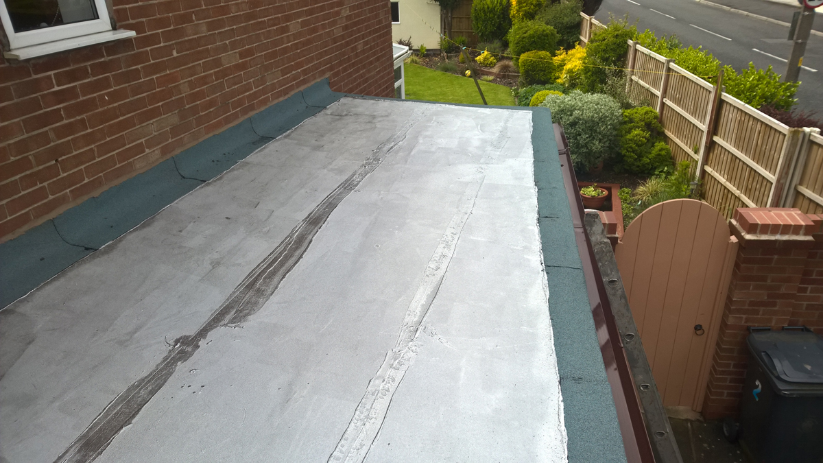 Flat Roof And Fascia Guttering Up Holland Mh Roofing